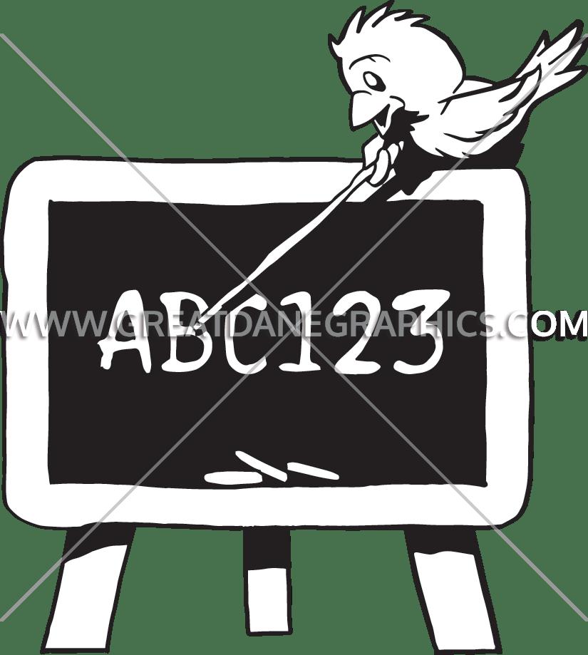 Easel clipart chalkboard easel. Bird production ready artwork