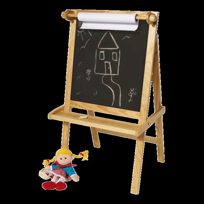 Easel clipart chalkboard easel. Art creative play great