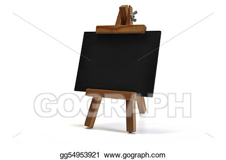 Easel clipart chalkboard easel. Stock illustrations d isolated