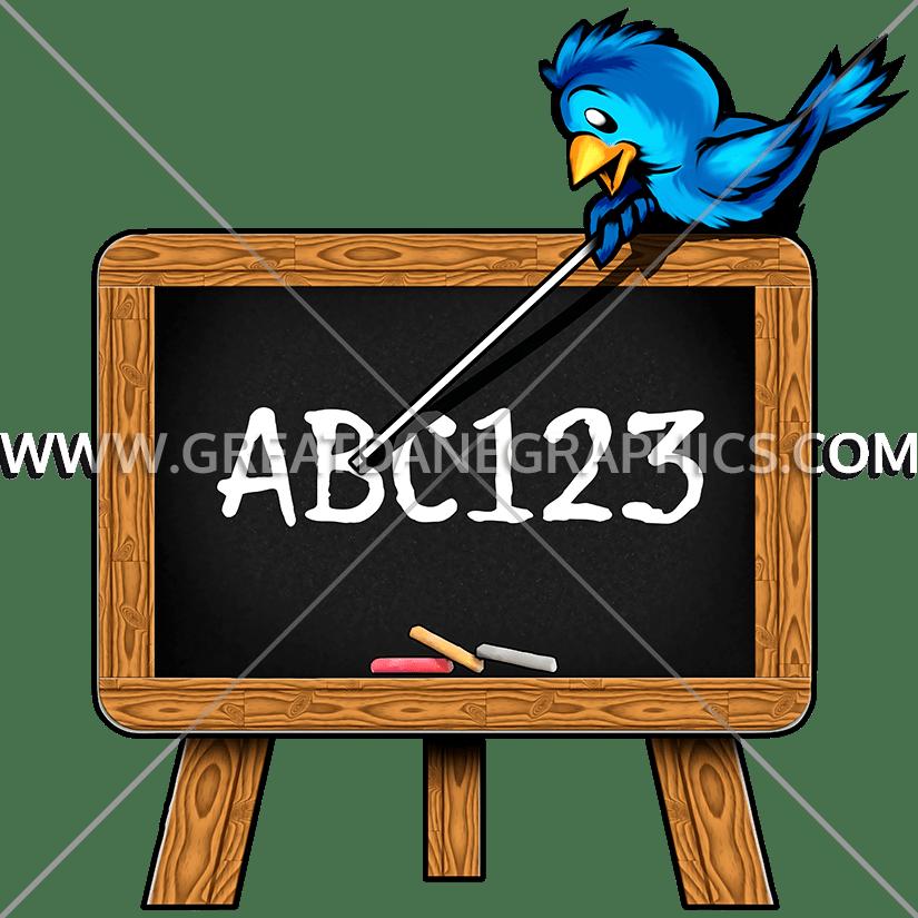 Bird production ready artwork. Easel clipart chalkboard easel