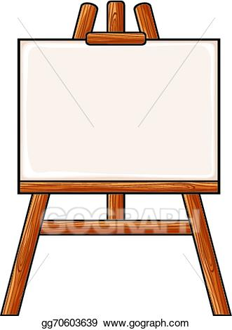 Painter clipart easel board. Vector stock canvas on