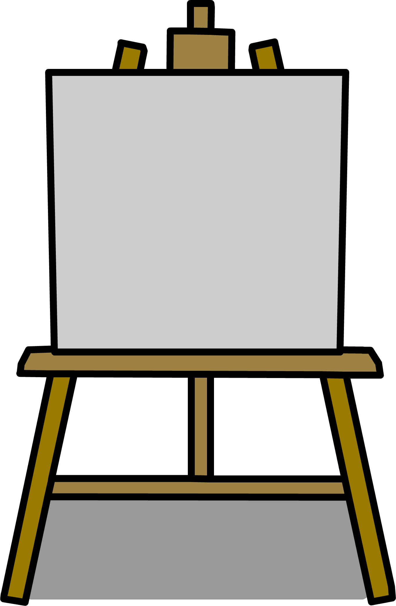 Painter clipart easel board. Image png club penguin