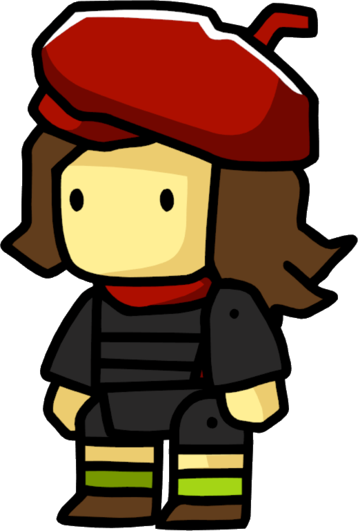 Painter clipart lady painting. Artist scribblenauts wiki fandom