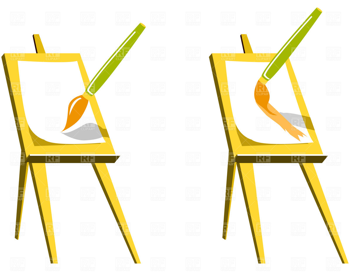 Easel clipart paint night. Free canvas apinting cliparts