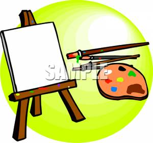 Paint brushes with a. Paintbrush clipart paintbrush canvas