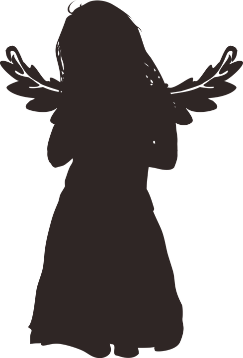 Free image on pixabay. Wing clipart silhouette angel
