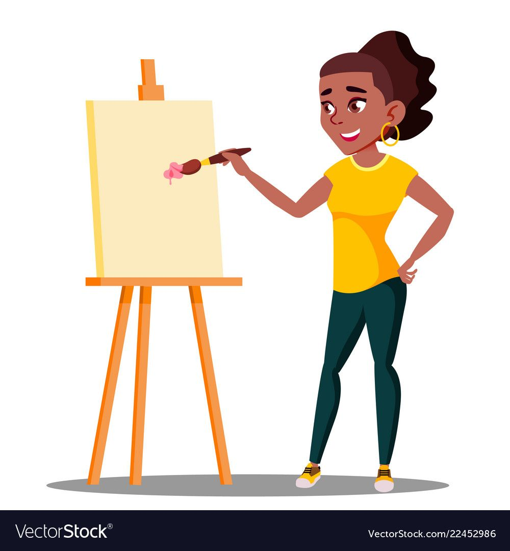 Art college drawing on. Easel clipart student