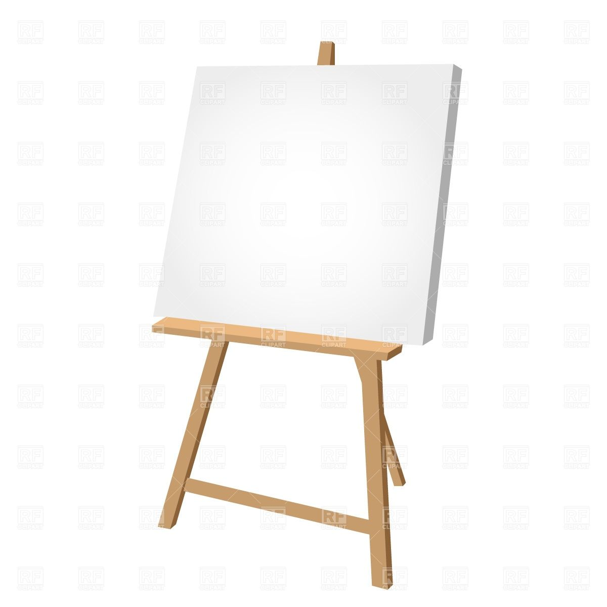Easel clipart vector. Catalog objects blank download