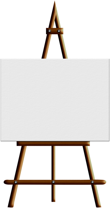 Painter clipart easel board. Painting art clip wooden