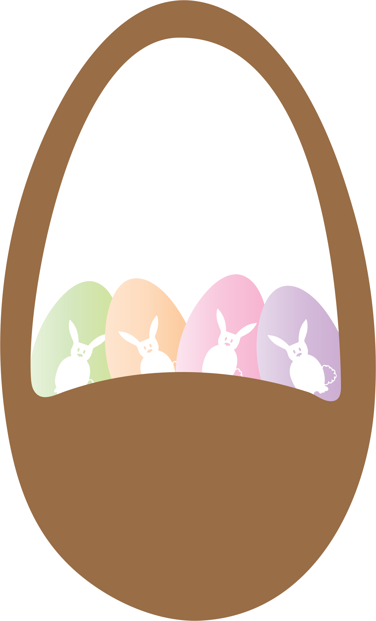 And eggs big image. Easter clipart easter basket