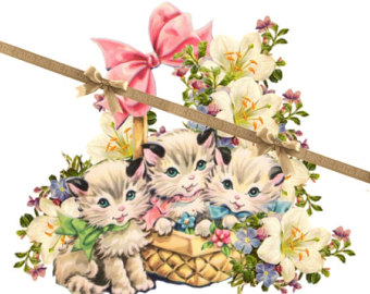 Easter clipart kitten. Free cat download clip