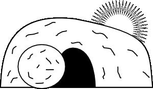 Empty tomb clipart morning. Clip art vector online