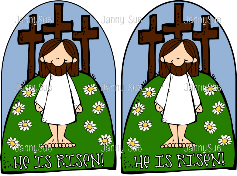 Easter clipart verse. Jesus the cross he
