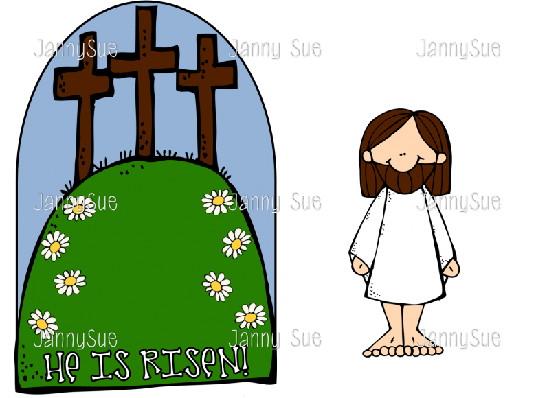 Jesus the cross he. Easter clipart verse