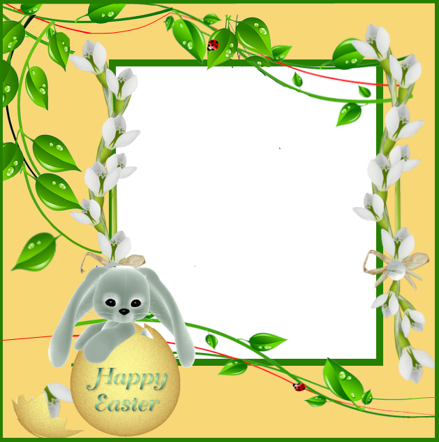 Yellow gallery yopriceville high. Easter frame png