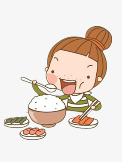 Children will color rice. Eat clipart