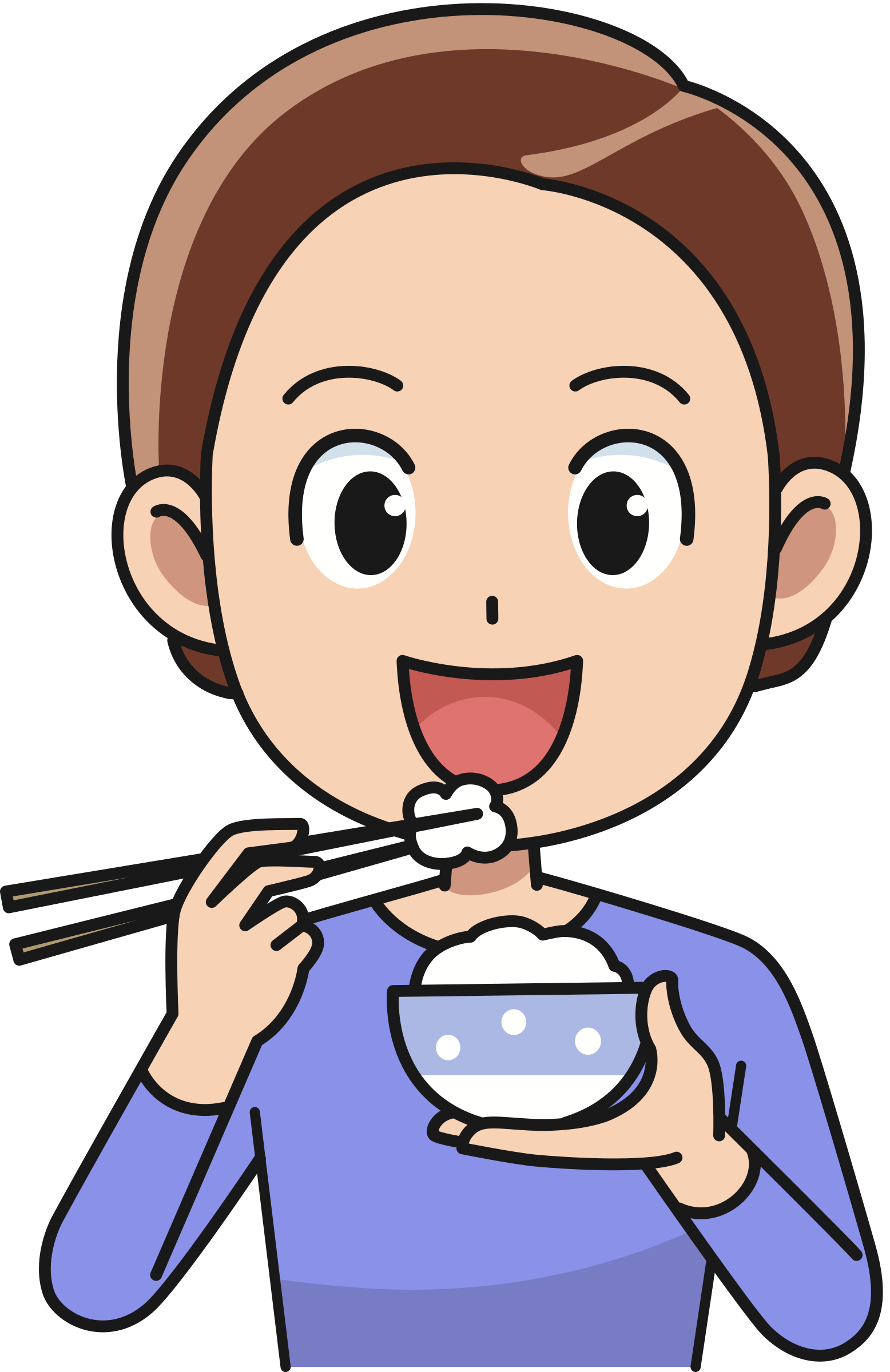 Eat clipart. Man eating rice big
