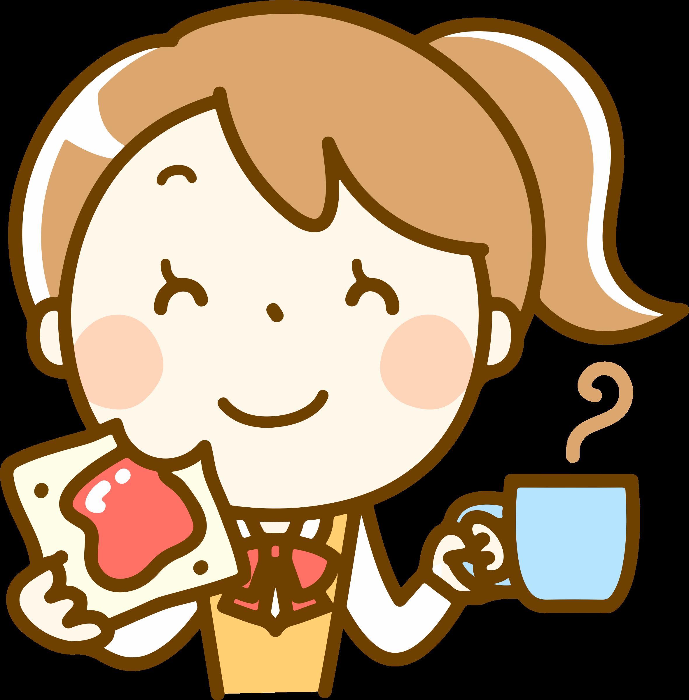 Eating clipart girl eating, Eating girl eating Transparent ... (2362 x 2398 Pixel)