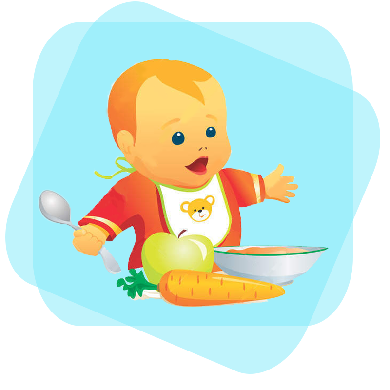 Starting baby on solid. Peanuts clipart eating