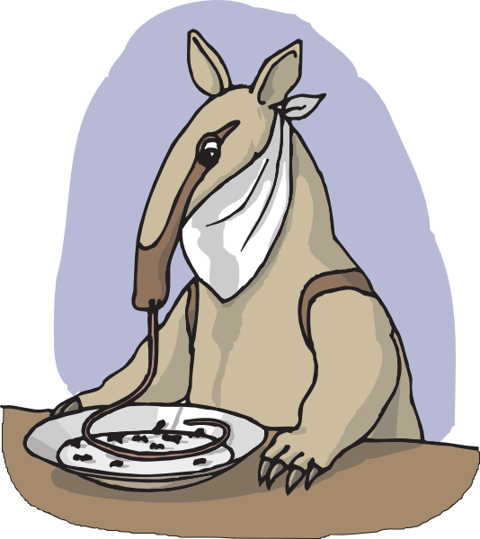 Face clipart ant. Anteater eating from a