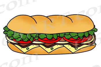 Sandwich clipart printable. Build a sub bundle