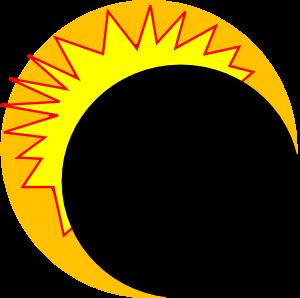 Clip art at clker. Eclipse clipart