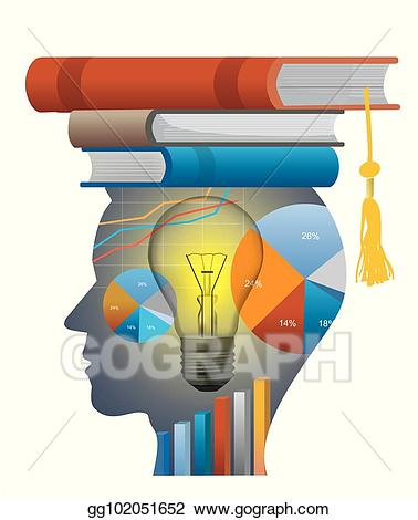 Economics clipart. Vector stock successful student