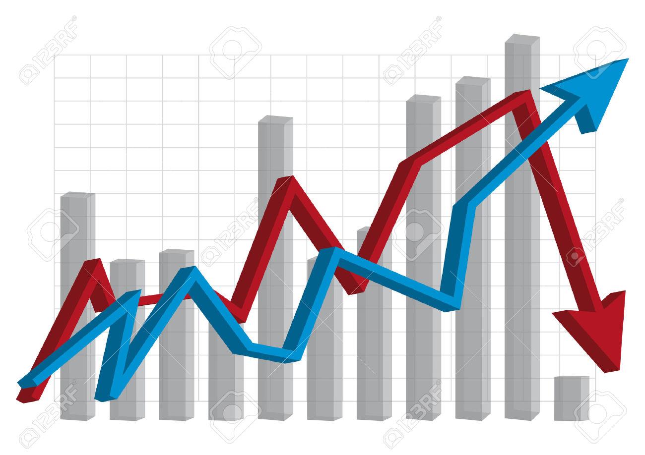 Graph . Economics clipart