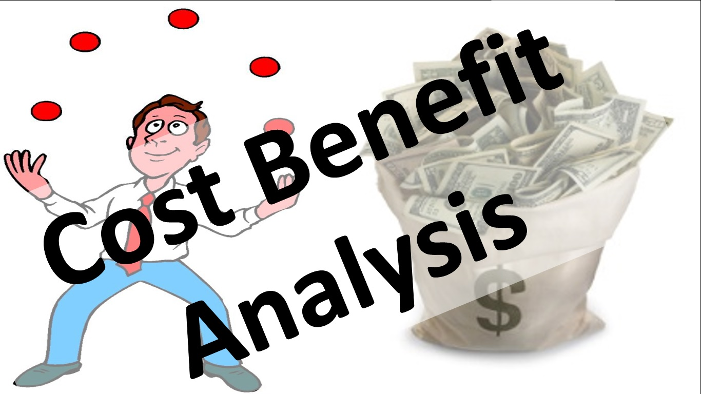 Economic concepts benefit analysis. Economics clipart cost