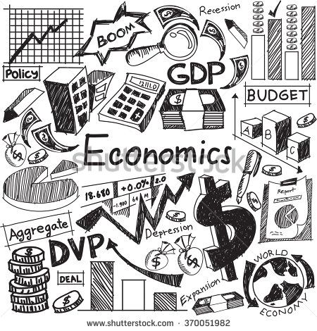 Economics clipart cost. And financial education handwriting