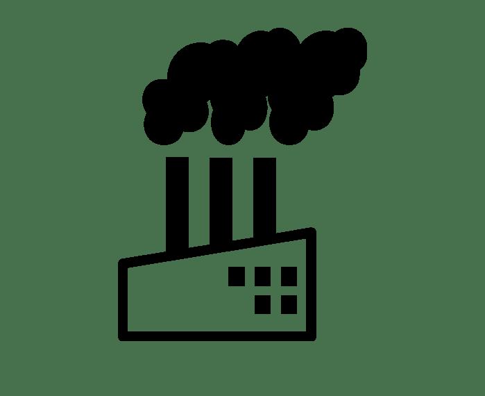 Factory clipart primary sector. Increase in temperature decreases