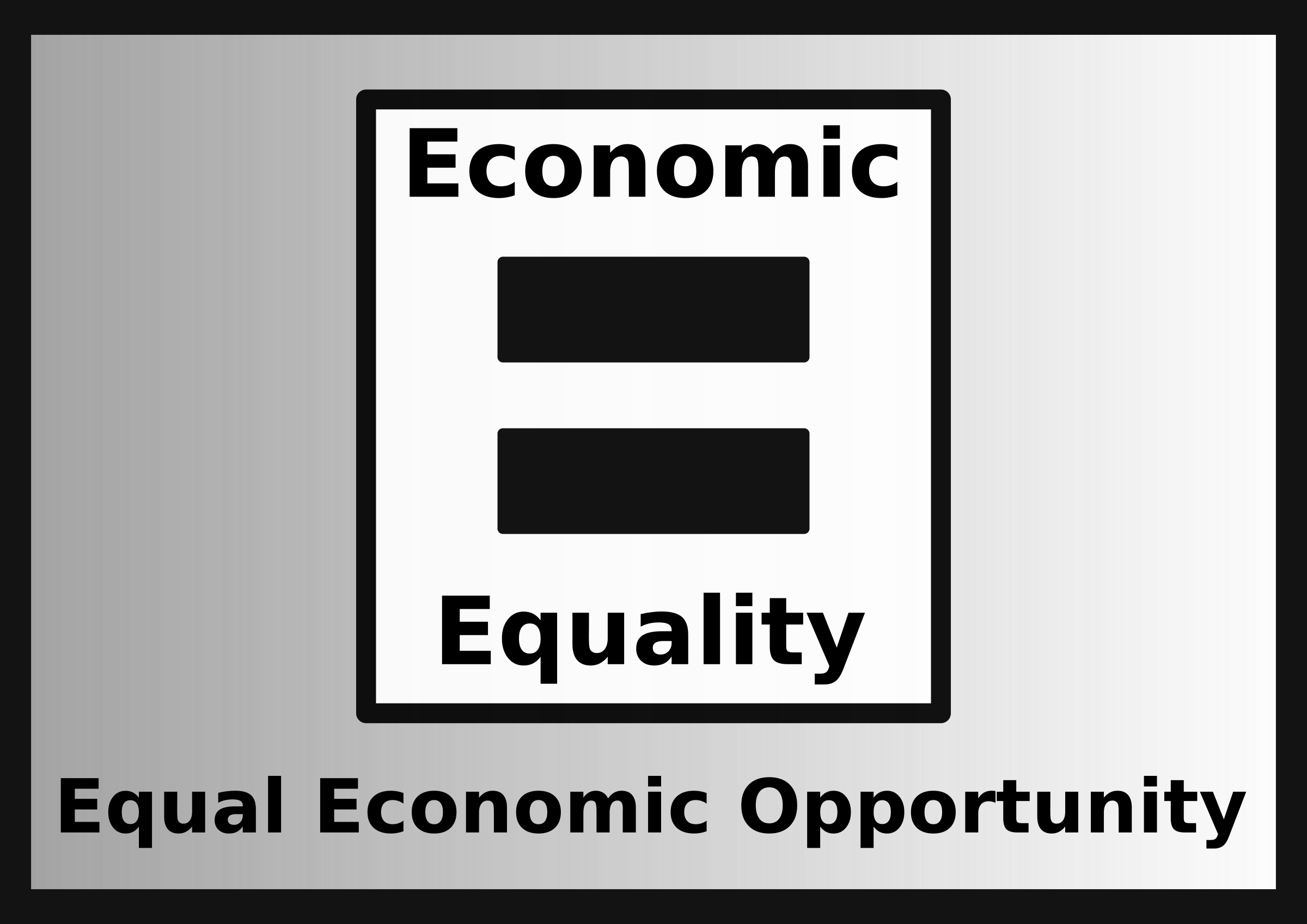 Equal economic opportunity big. Economics clipart economy class