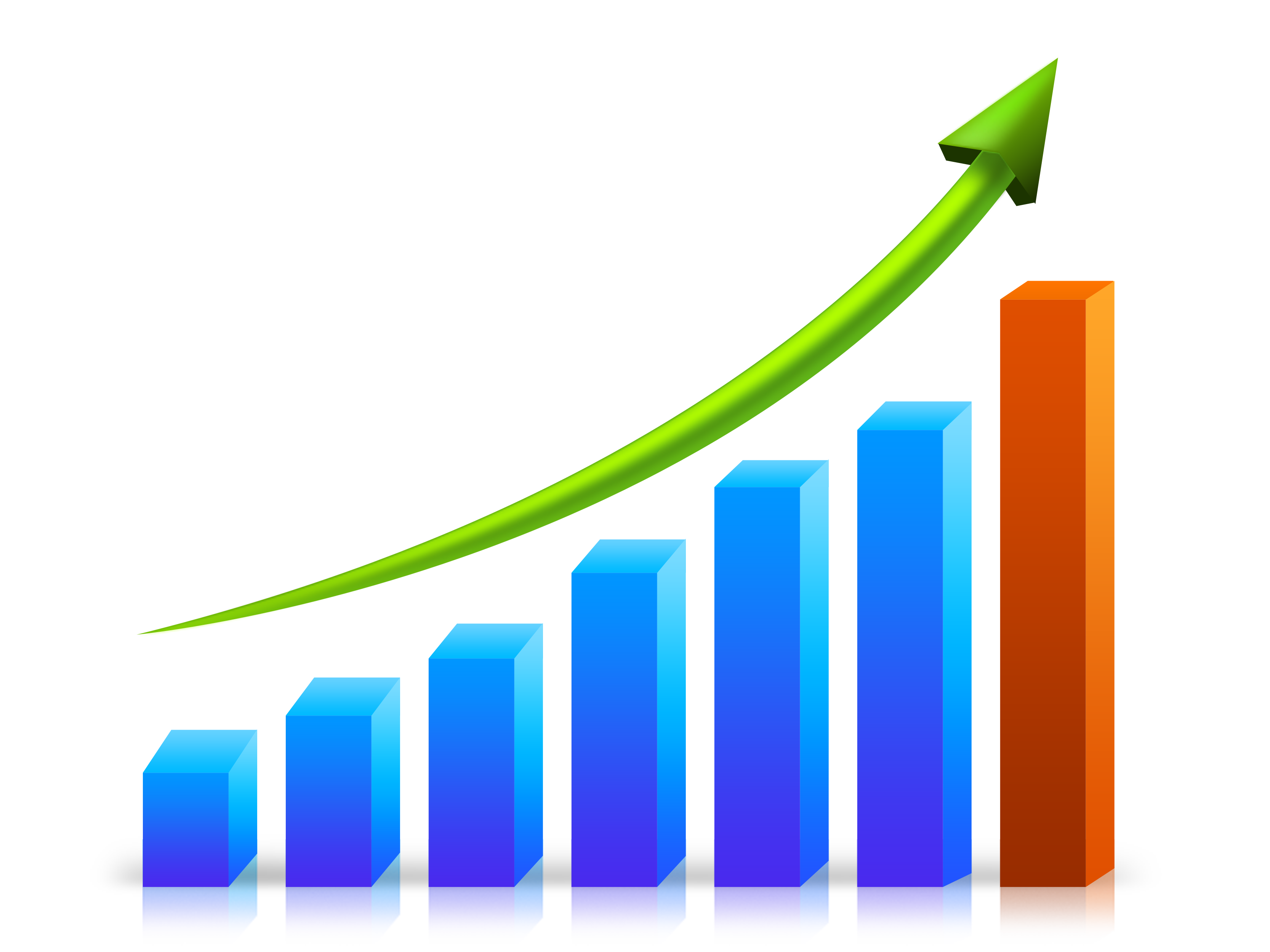 Images of economic growth. Graph clipart buisness