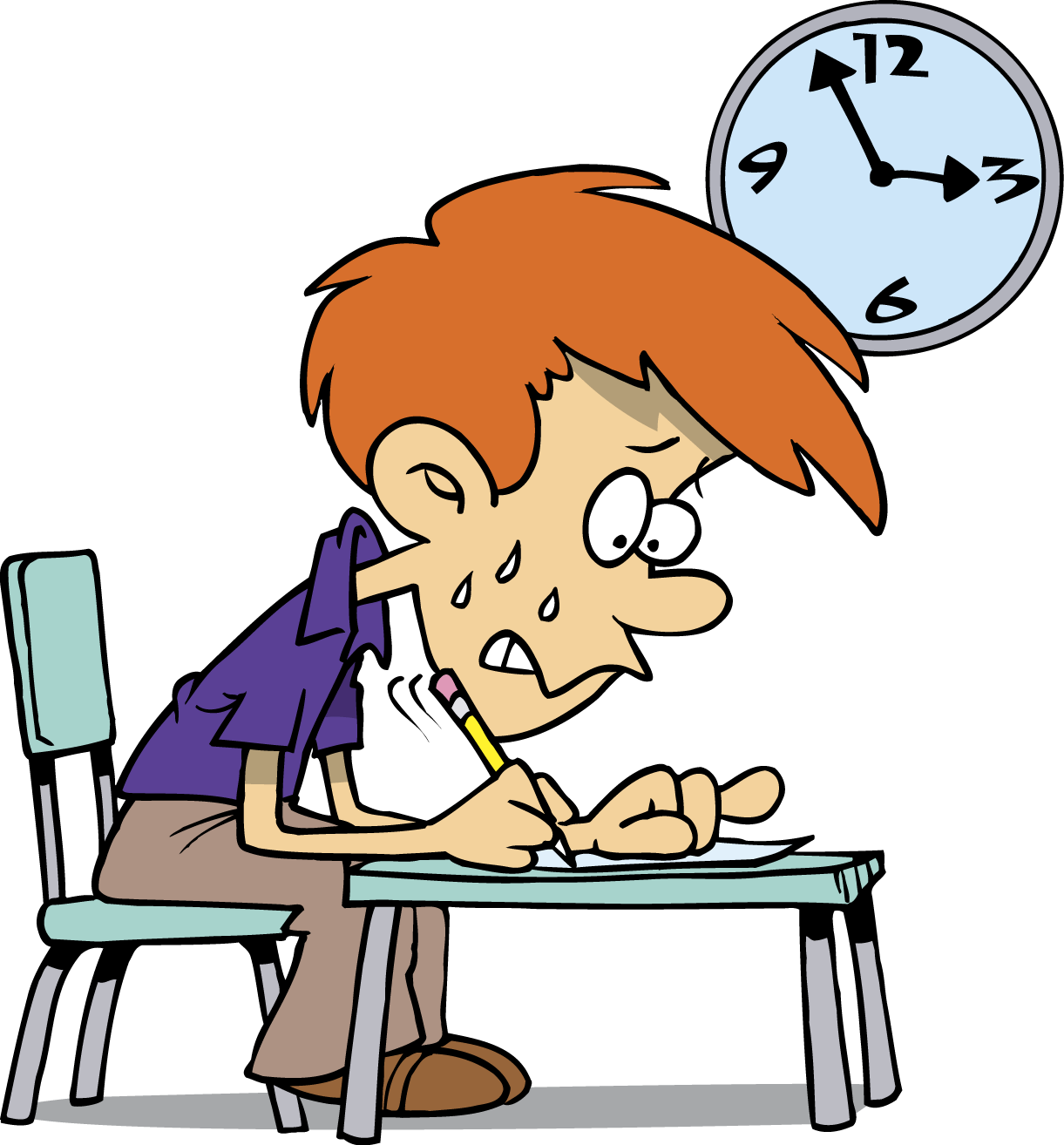 Exams fear and failure. Economics clipart paycheck