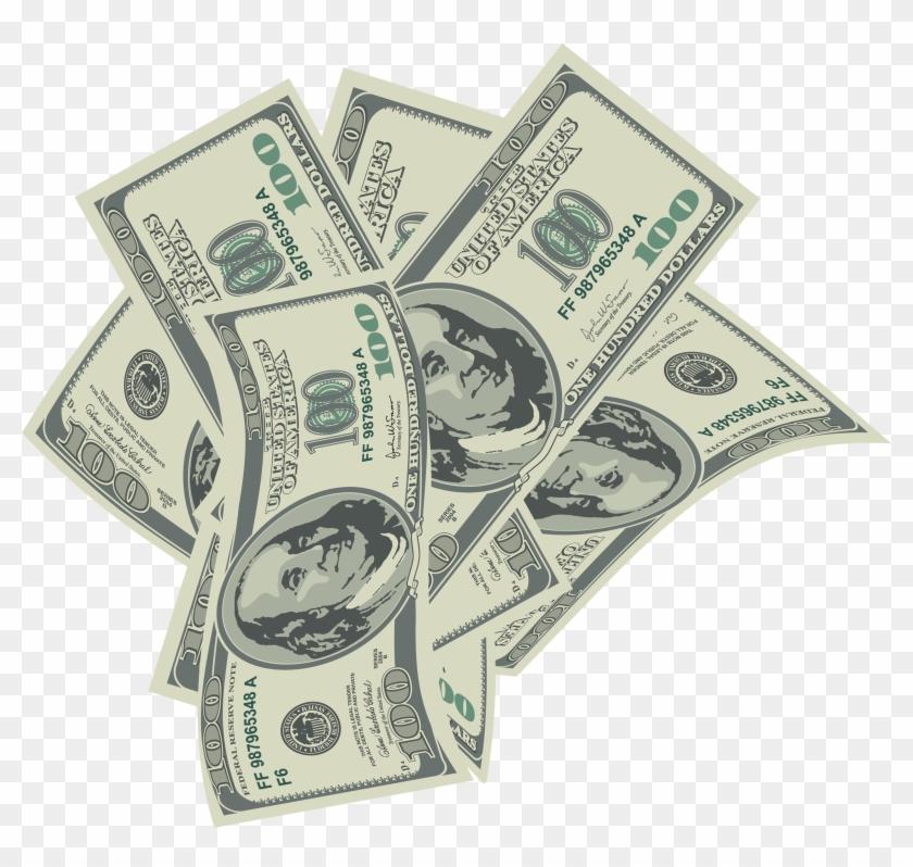 Economy clipart 100 dollar. Large transparent dollars bills