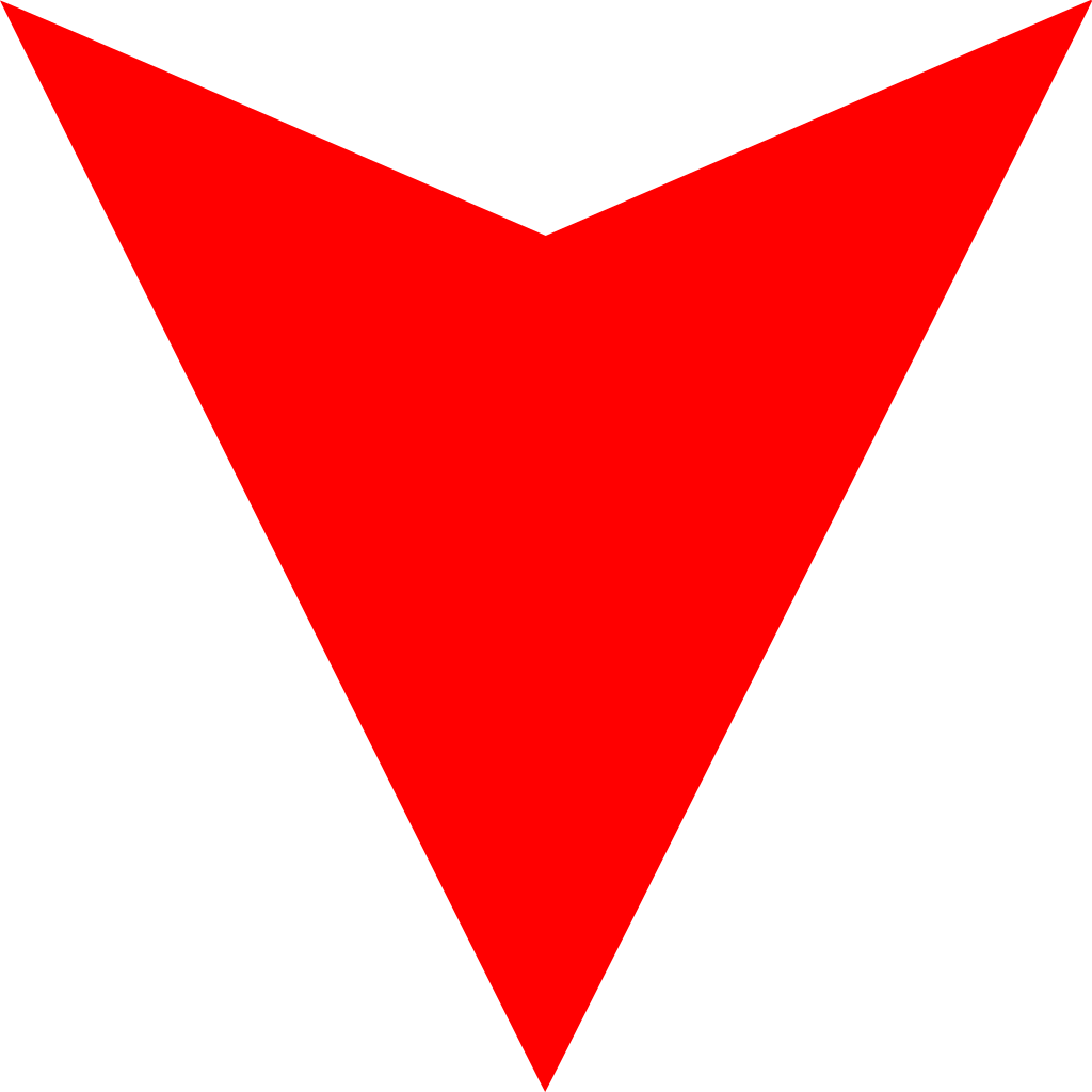 Economy clipart arrow. File red down svg