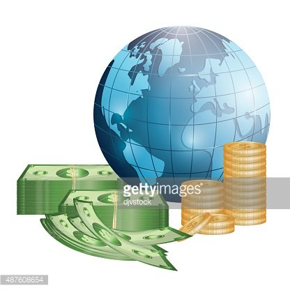 Economy clipart mone. Business money and global