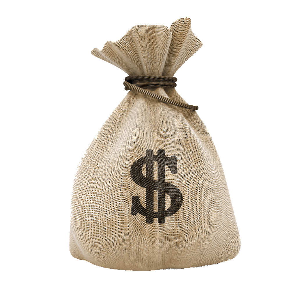 Of five isolated stock. Money bag png