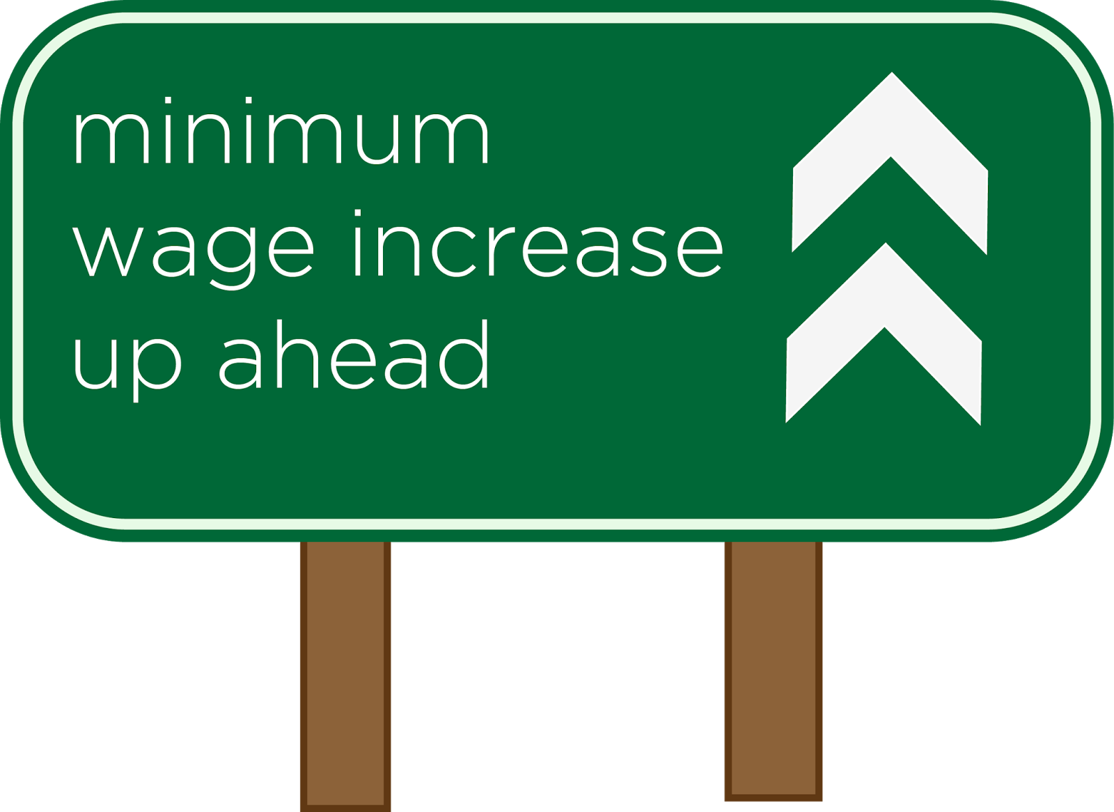 Raise the minimum wage. Statistics clipart increased