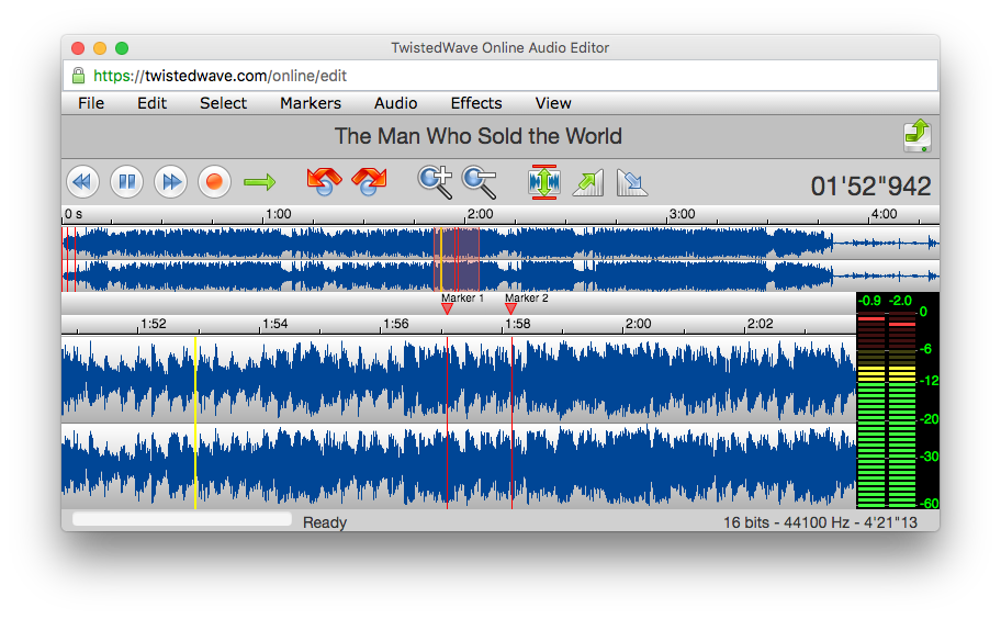 Twistedwave audio editor twonlinepng. Editing png files online