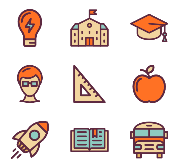 Textbook clipart educational material.  school icon packs
