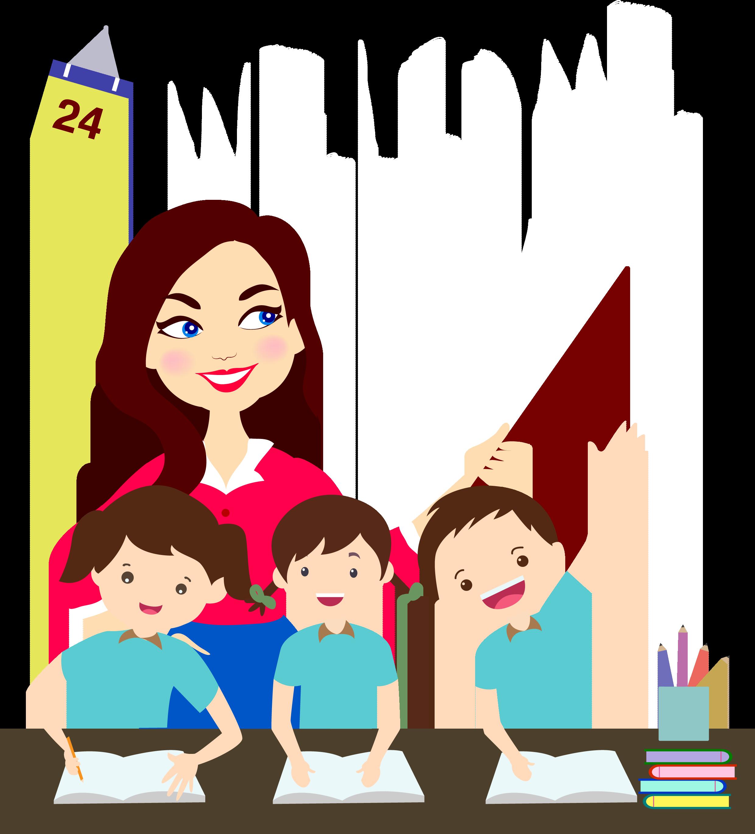 Cartoon teacher graphic design. Human clipart college student