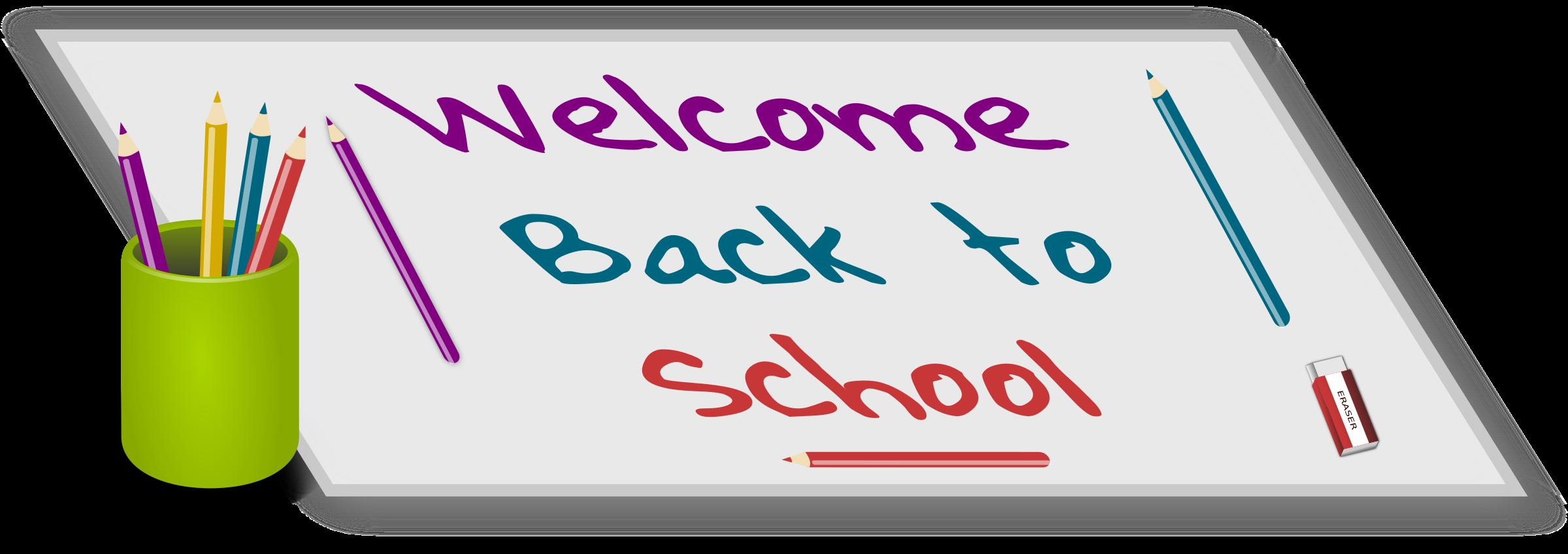 Welcome back to school. Eraser clipart big pink