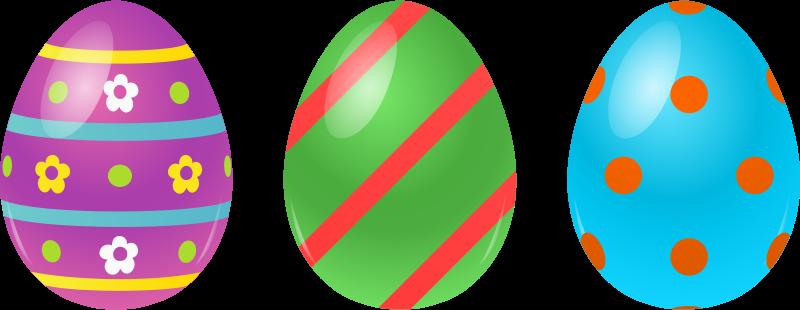 Easter clip art image. Eggs clipart 3 egg