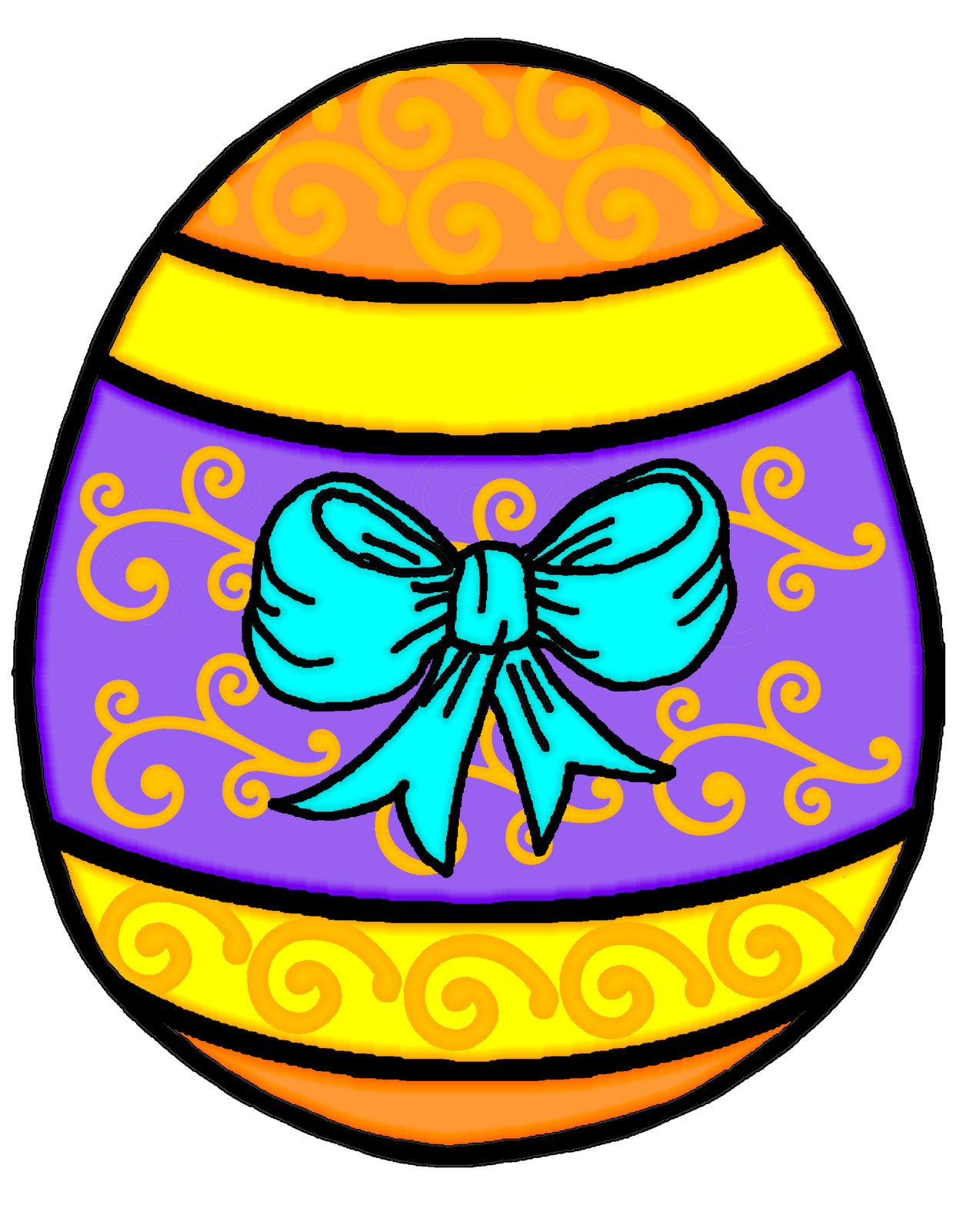 Fox clipart easter. Orange eggs pencil and