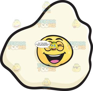 Emoji clipart egg. Laughing sunny side up
