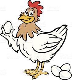Chicken clip art . Hen clipart egg