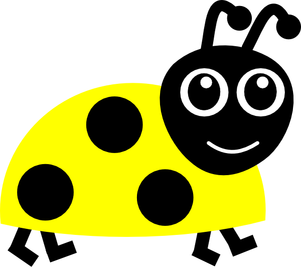Ladybug clip art at. Wednesday clipart yellow