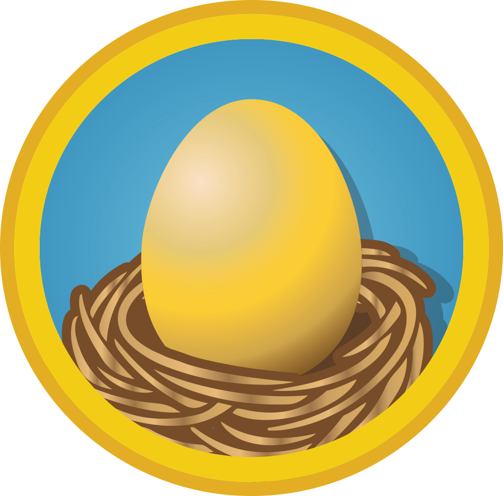 Building your wall street. Nest clipart blue egg
