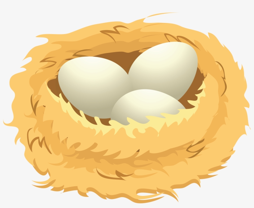 Eggs clipart nest. Png in a clip